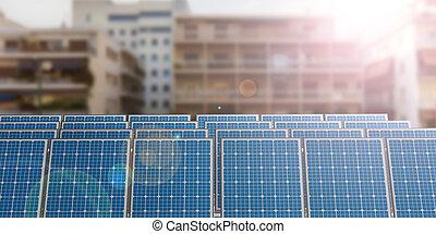3d rendering solar panels