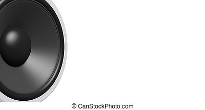 3d rendering speaker on white background