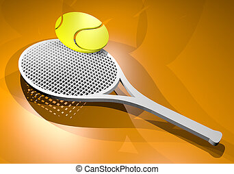 3D rendering tennis racket