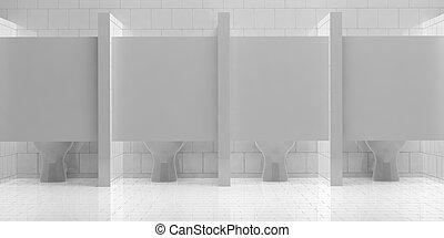 3d rendering toilet bowl