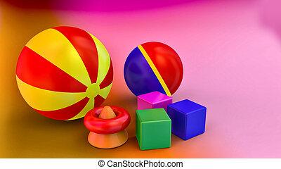 3D rendering toys