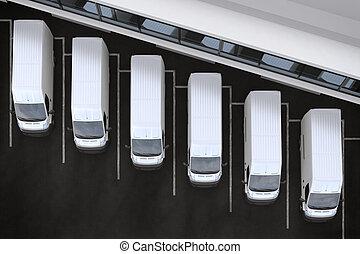 3D Rendering truck fleet