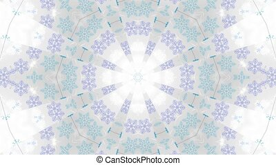 This is a 3D rendering of a white christmas showered with snowflakes and cold ambiance on a vj loop.