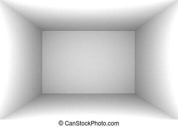 3D Rendering White Empty Room