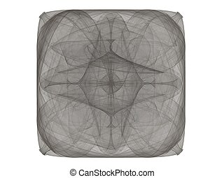 3D rendering with abstract fractal gray pattern