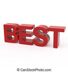 3D rendering word - BEST