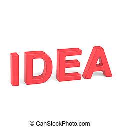 3D rendering word - IDEA