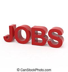 3D rendering word - JOBS