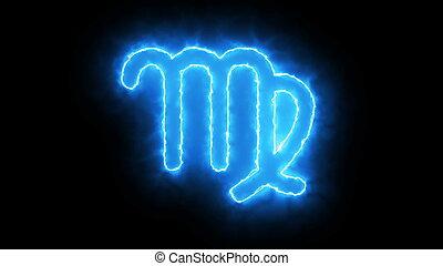 3d rendering Zodiac symbol. Digital background