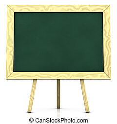 blank blackboard - 3d rendering/illustration of a blank ...