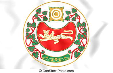 Republic of Khakassia Coat of Arms, Russia. - 3D Republic of...
