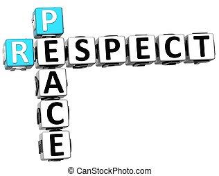 3D Respect Peace Crossword