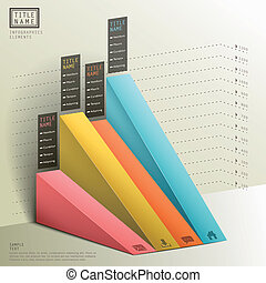 3d, resumen, moderno, gráfico, infographics