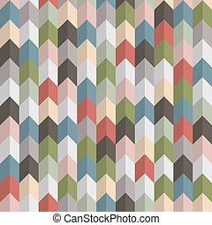 3d retro geometric seamless pattern with arrows