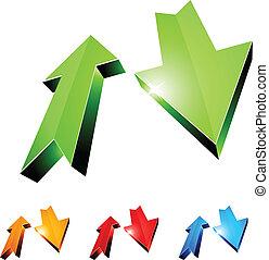 3d return arrows. - 3D return arrows. Vector illustration.