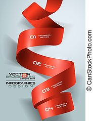 3d Ribbon infographics Vector Illustration