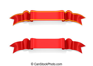 3d ribbon on white background