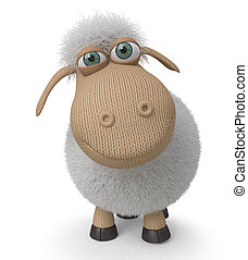 3d ridiculous sheep - The herbivorous and fluffy miracle is ...