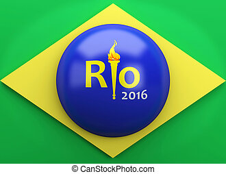 3d Rio 2016. Brazil summer olympic games concept. - 3d...
