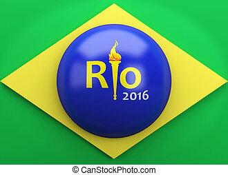 3d Rio 2016. Brazil summer olympic games concept. - 3d...