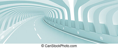 3d Road - 3d Illustration of Abstract Road