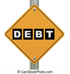 3d road sign debt