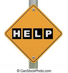 3d road sign help