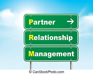 3d road sign with partner relationship management