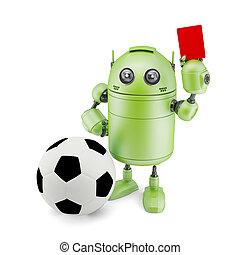 3D Robot playing soccer