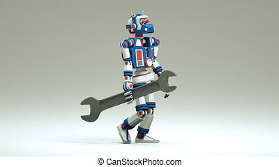 3d robot repairman comes with a wrench - 3d robot repairman...