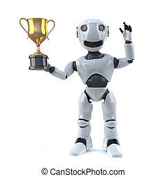 3d Robot wins the gold cup trophy