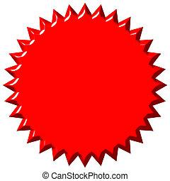 3d, rojo, sello