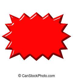 3d, rood, barsten