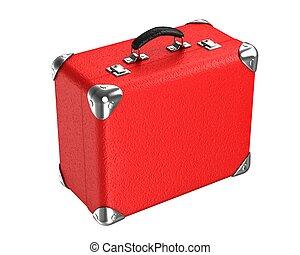 3d, rouges, valise
