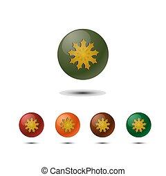 3d round logo on white background