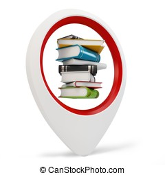 3d round pointer with books