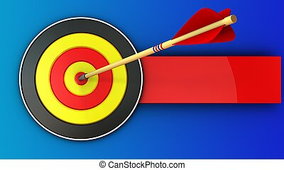 3d round target with arrow hit