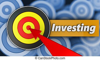 3d round target with investing sign
