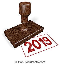3D rubber stamp - 2019