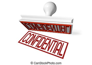 3D rubber stamp - confidential