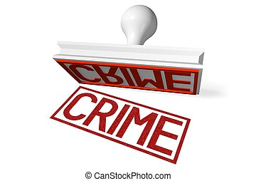 3D rubber stamp - crime
