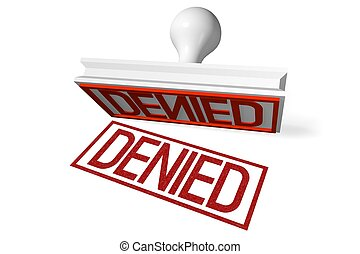 3D rubber stamp - denied