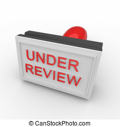 3d rubber stamp under review - 3d rubber under review stamp...