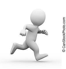 3d running man