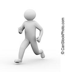 3d running person