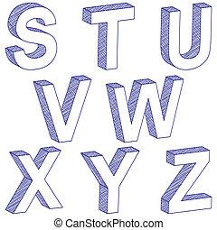 3d, s-z, 手紙, 図画