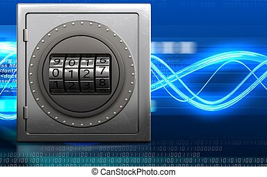 3d safe code dial