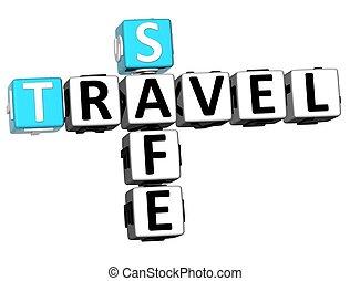 3D Safe Travel Crossword