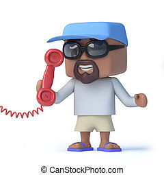 3d Sailor dude answers the phone