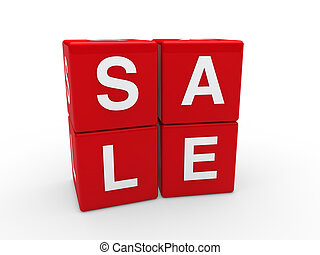 3d sale cube red